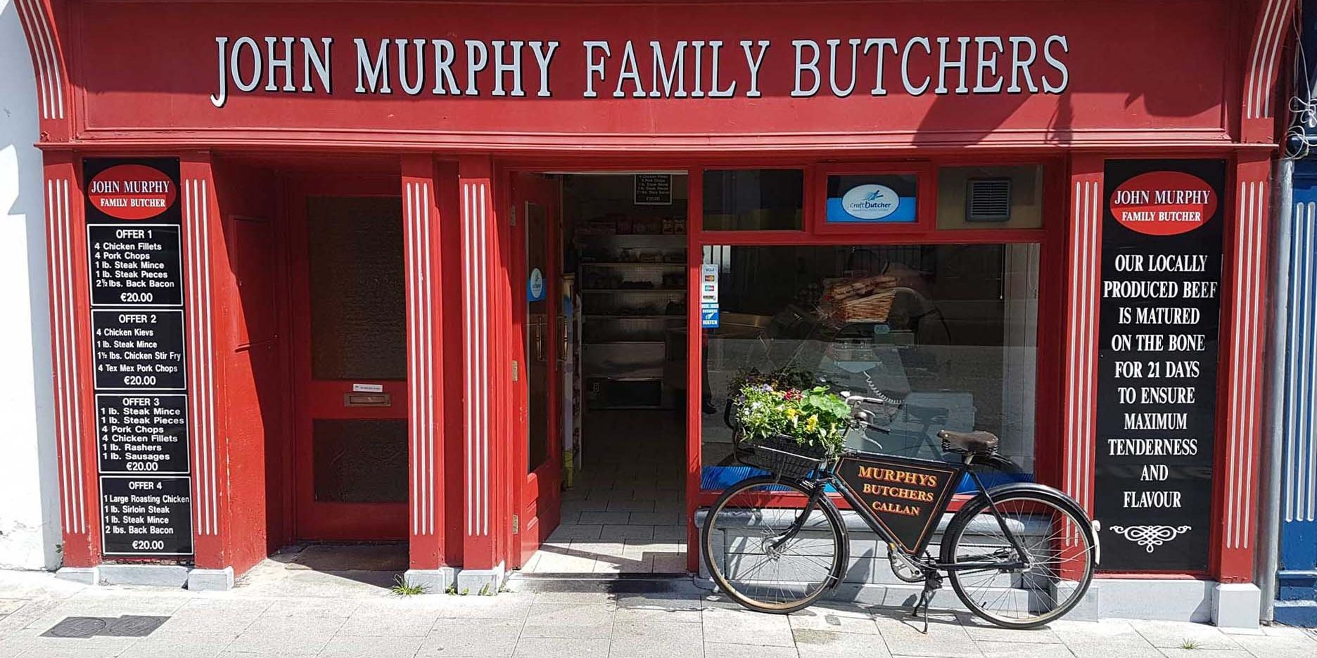 John Murphy Family Butchers shop front
